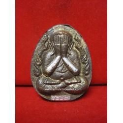 Phra Pidta Jumbo Maha Larp Nua Rae Lek Lai Piek (2 Silver Takrut) BE 2556