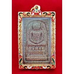 Phra Somdej Song Kaiser Jumbo - Cracked Mould BE 2529 ( 1 )
