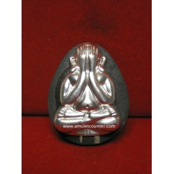 Phra Pidta Jumbo Nua Pong Bailan Silver Mask BE 2556